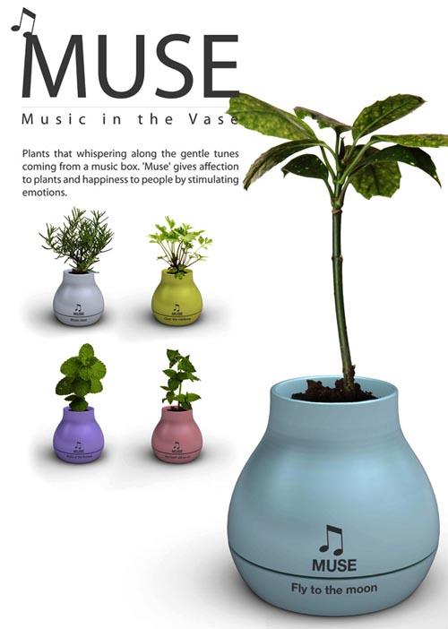 带音乐盒的花盆能种花还能听歌